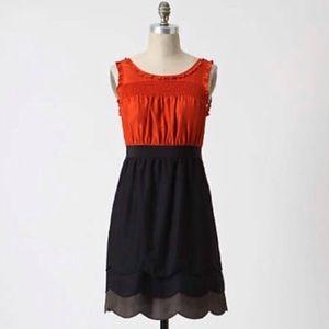 Anthropologie Maeve Horizon Line Silk Dress 0 XS